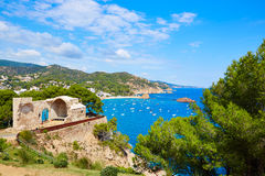Tossa de Mar Aerial view in Costa Brava of Girona Stock Images
