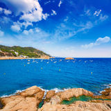 Tossa de Mar Aerial view in Costa Brava of Girona Royalty Free Stock Image