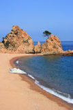 Tossa de Mar beach Stock Images