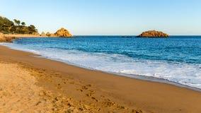 Tossa de Mar Beach, Costa Brava, Catalonia Stock Photo