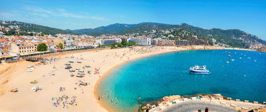 Tossa De Mar Beach. Costa Brava, Catalonia, Spain Royalty Free Stock Photos