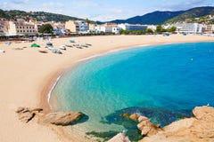 Tossa de Mar beach in Costa Brava of Catalonia Royalty Free Stock Photo