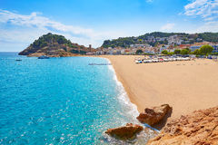Tossa de Mar beach in Costa Brava of Catalonia Stock Photos