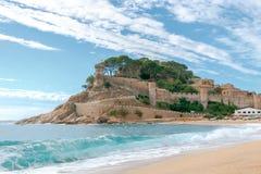 Tossa de Mar Beach. Costa Brava. Royalty Free Stock Photo
