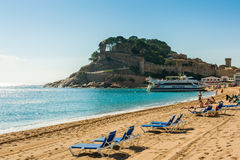 Tossa de Mar beach Stock Photography