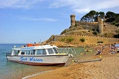 Tossa De Mar beach, Spain Royalty Free Stock Photos