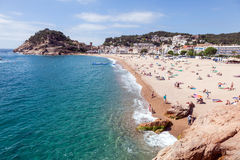 Tossa de Mar beach, Spain Royalty Free Stock Images