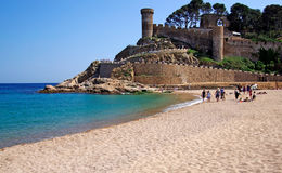 Tossa de Mar beach view. stock image