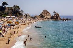 Tossa de Mar Beaches, Spain Royalty Free Stock Photos