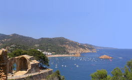 Tossa de Mar castle. Scenic view of Tossa de Mar castle and resort, Costa Brava, Catalonia, Spain Royalty Free Stock Image