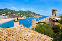 Tossa de Mar castle in Costa Brava of Catalonia Stock Photography