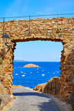 Tossa de Mar castle in Costa Brava of Catalonia Royalty Free Stock Photography