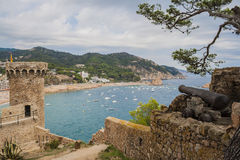 Tossa de Mar castle in Costa Brava. Catalonia, Spain Royalty Free Stock Image