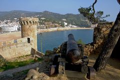 Tossa DE Mar, Catalonië, Spanje Royalty-vrije Stock Foto's