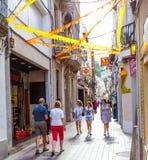 Tossa de Mar, Catalonia, Spain, Carrer la Guàrdia street Stock Photos