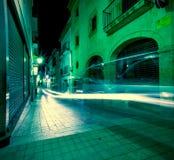 Tossa de Mar, Cataluña, España, el 6 de junio de 2013, calle de Carrer Nou Imagen de archivo