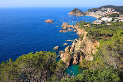 Tossa de Mar cliffs Royalty Free Stock Image