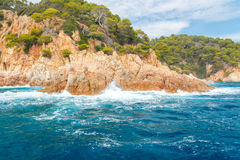 Tossa de Mar. The coastline of Costa Brava. Stock Photo