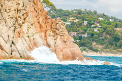 Tossa de Mar. The coastline of Costa Brava. Stock Photography