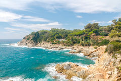 Tossa de Mar. The coastline of Costa Brava. Royalty Free Stock Images