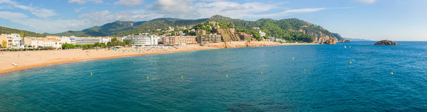 Tossa de Mar coastline Royalty Free Stock Photos