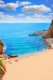 Tossa de Mar Codolar beach platja in Costa Brava Royalty Free Stock Photography