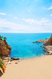 Tossa de Mar Codolar beach platja in Costa Brava Stock Photo