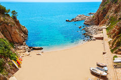 Tossa de Mar Codolar beach platja in Costa Brava Royalty Free Stock Photos