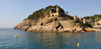 Tossa de Mar, Costa Brava. Tossa de Mar castle, Costa Brava, Spain Royalty Free Stock Photography