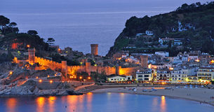 Tossa de mar on the costa brava Stock Photo
