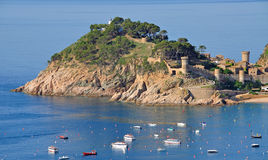 Tossa de mar on the costa brava Stock Image