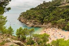 Tossa de Mar, Costa Brava, Catalunya, Espanha fotos de stock