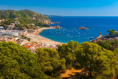 Tossa de Mar on the Costa Brava, Catalunya, Spain royalty free stock photos