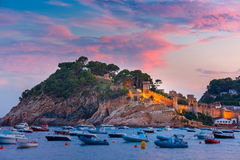 Tossa de Mar on the Costa Brava, Catalunya, Spain Royalty Free Stock Images