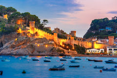 Tossa de Mar on the Costa Brava, Catalunya, Spain royalty free stock photography