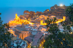 Tossa de Mar on the Costa Brava, Catalunya, Spain Stock Photos