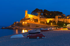Tossa de Mar on the Costa Brava, Catalunya, Spain Royalty Free Stock Photo