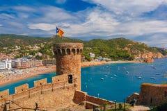 Tossa de Mar on the Costa Brava, Catalunya, Spain Stock Photos