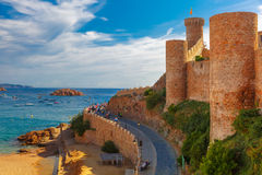 Tossa de Mar on the Costa Brava, Catalunya, Spain Stock Images