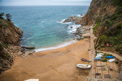 Tossa de Mar , Costa Brava coast. Photograph of  Tossa de Mar coast in the winter, Costa Brava, Catalonia, Spain Stock Photos