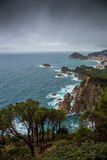Tossa de Mar , Costa Brava coast. Photograph of  Tossa de Mar coast in the winter, Costa Brava, Catalonia, Spain Royalty Free Stock Images