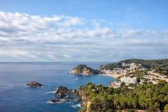 Tossa de Mar at Costa Brava Coastline Stock Photography