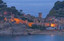 Tossa de Mar, Costa Brava, Espagne Photographie stock libre de droits
