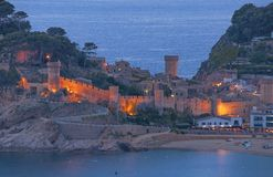 Tossa de Mar, Costa Brava, Spagna Fotografia Stock Libera da Diritti