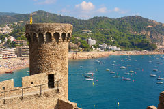 Tossa de Mar. Costa Brava, Spain Stock Images