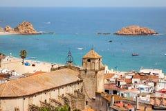 Tossa de Mar. Costa Brava, Spain Stock Image