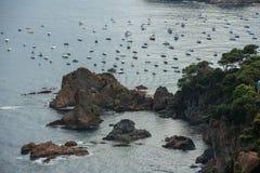 Tossa DE Mar, Costa Brava, Spanje Stock Foto's