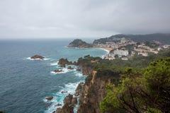 Tossa De Mar, Costa Brava wybrzeże Obrazy Stock