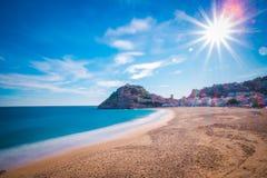 Tossa de Mar em Costa Brava, Catalonia, Espanha fotografia de stock royalty free