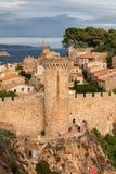 Tossa de Mar gammal stad i Spanien Arkivbild